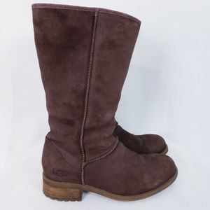 Ugg Australia Linford dk brown suede mid boots 6